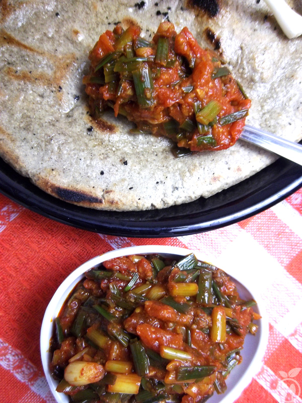 Green Garlic Tomato Relish