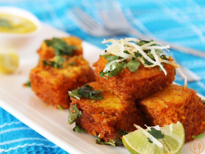 Spicy khaman dhokla recipe veggie food recipes spicy khaman dhokla recipe forumfinder Images