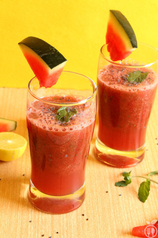 Healthy Watermelon Mint Lime Smoothie