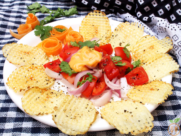 Homemade Potato Chips Salad