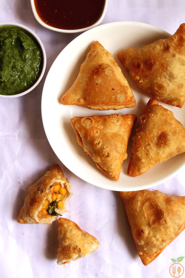 Lentil Samosa Recipe (Fried Samosa)