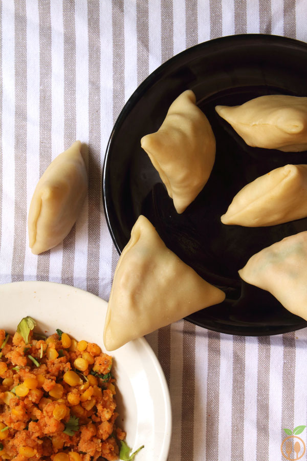 Lentil Samosa Recipe (Raw Samosa with Stuffing)