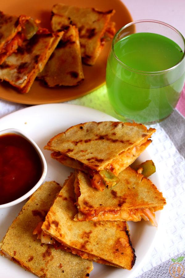Veggie Pizza Quesadilla Recipe