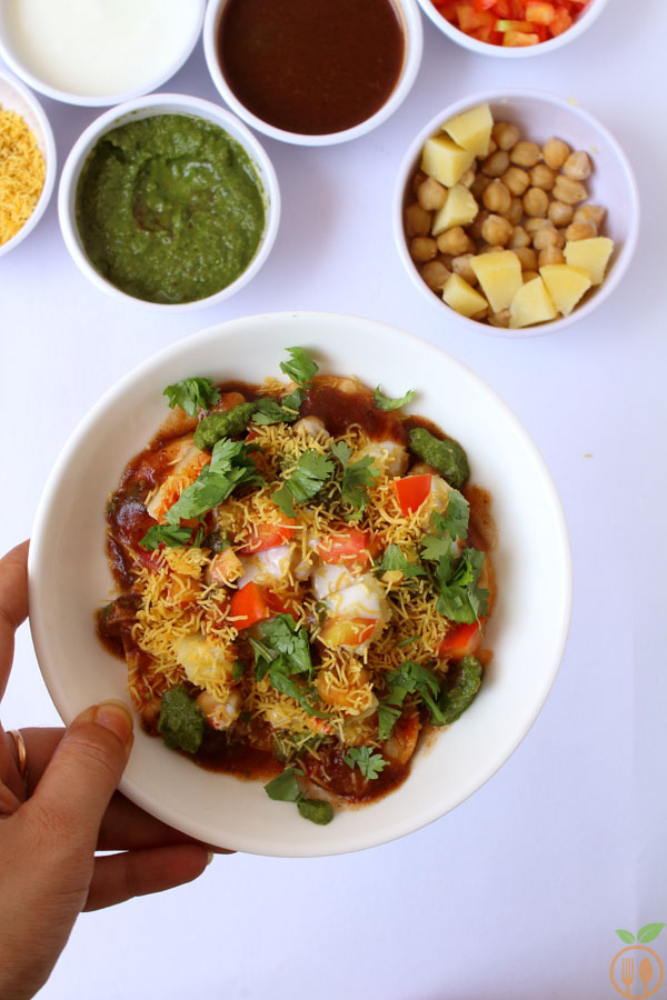 Dahi Papdi Chaat With Homemade Papdi