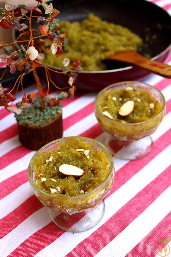 Lauki Halwa or Bottle Gourd Pudding