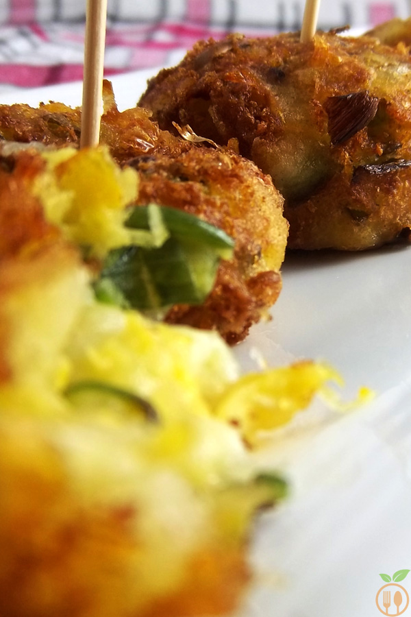 Sweet Corn Patties with Mozzarella Cheese