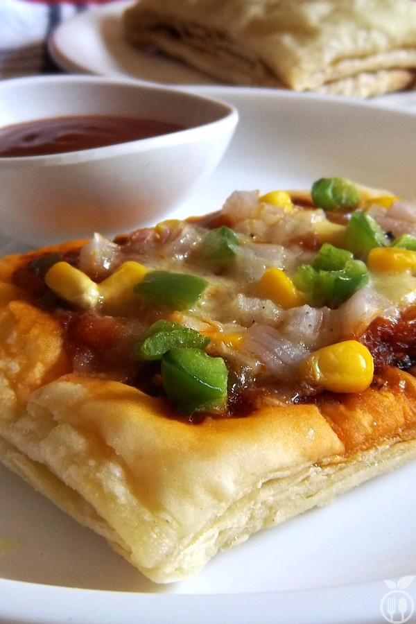 Veg Pizza Puff Recipe