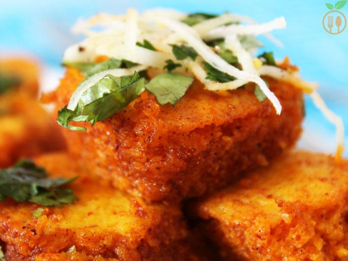 Spicy Khaman Dhokla