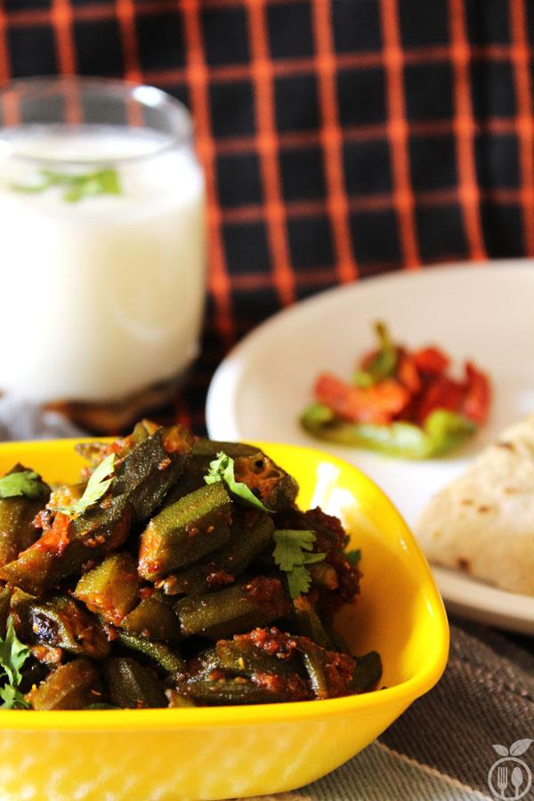 Dry Spicy Okra (Bhindi Masala)