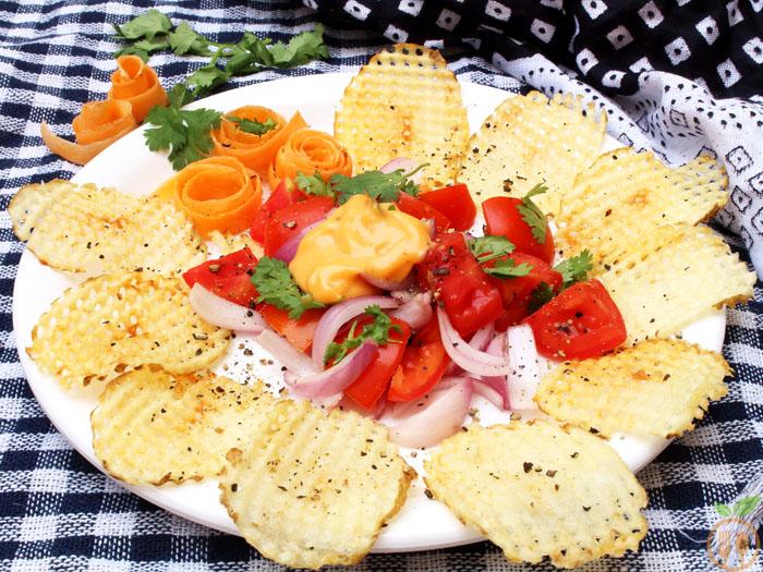 Homemade Potato Chips Salad