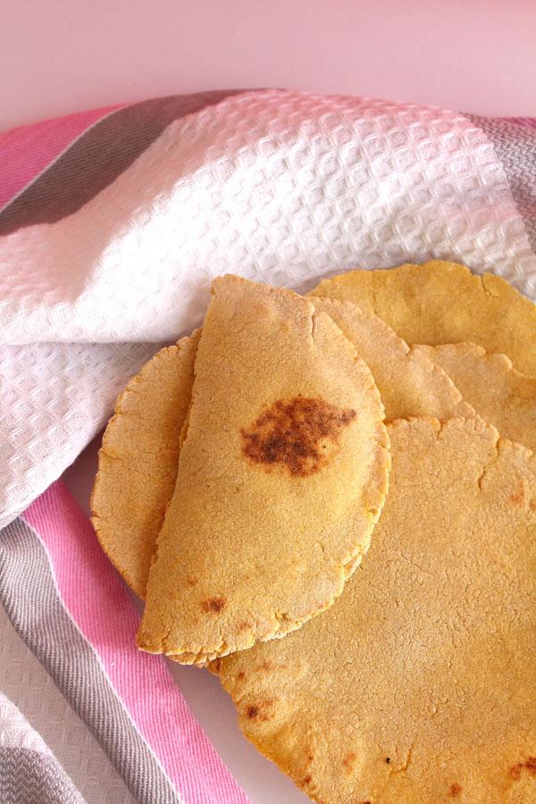 Veggie Pizza Quesadilla Recipe (Corn Tortilla)