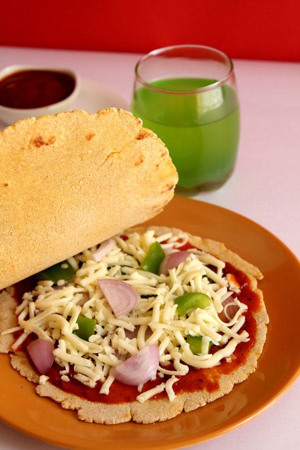 Veggie Pizza Quesadilla Recipe (Cover with another Corn Tortilla)