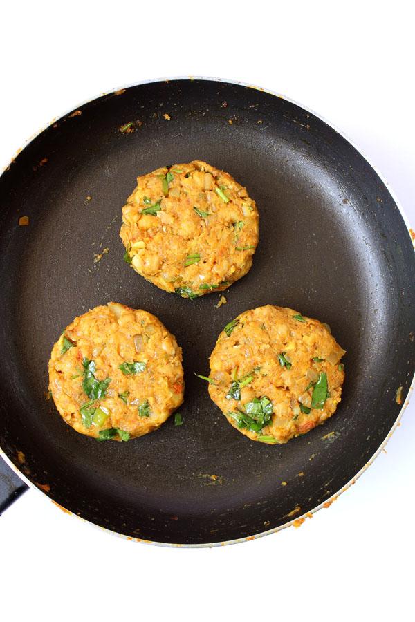 Chickpea Patties Recipe (Raw Patties)