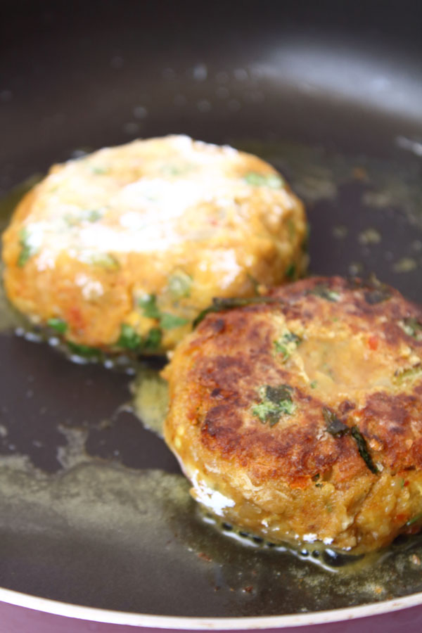 Chickpea Patties Recipe (Shallow Fry)