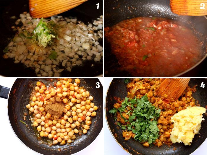 Chickpea Patties Recipe Steps