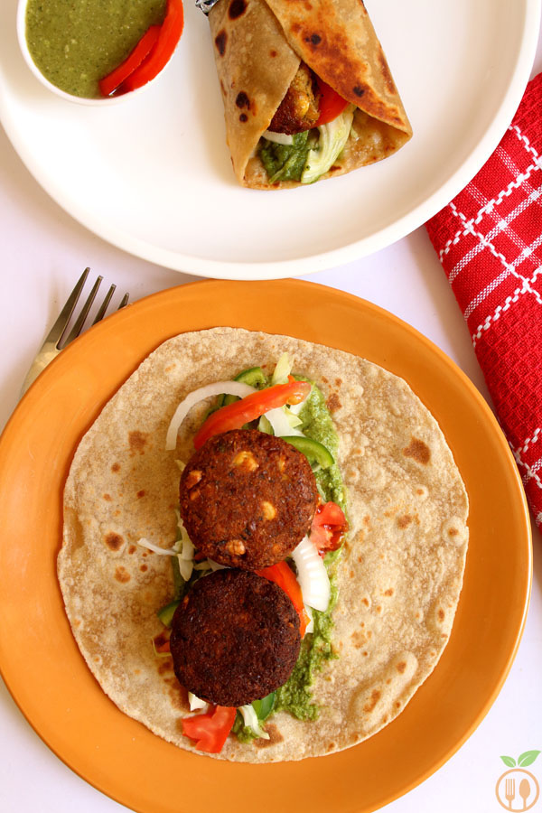 Spicy Vegan Falafel Wrap
