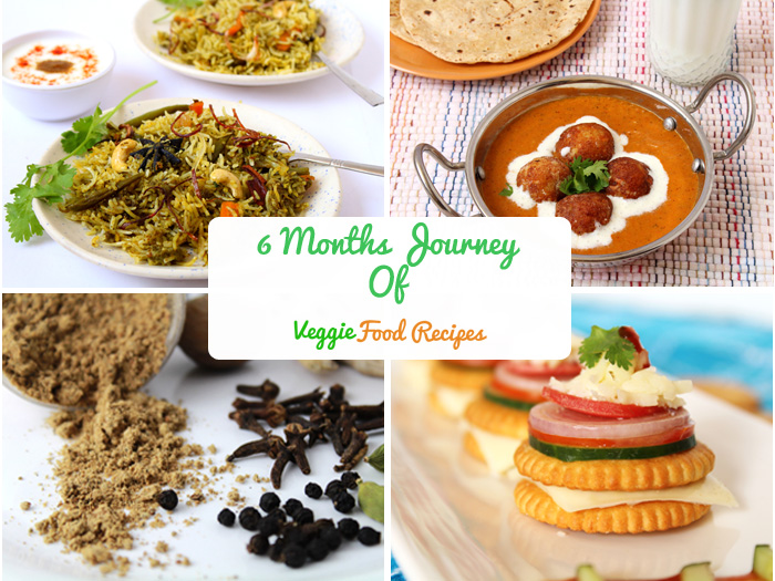 6 months as a Food Blogger @ Veggie Food Recipes