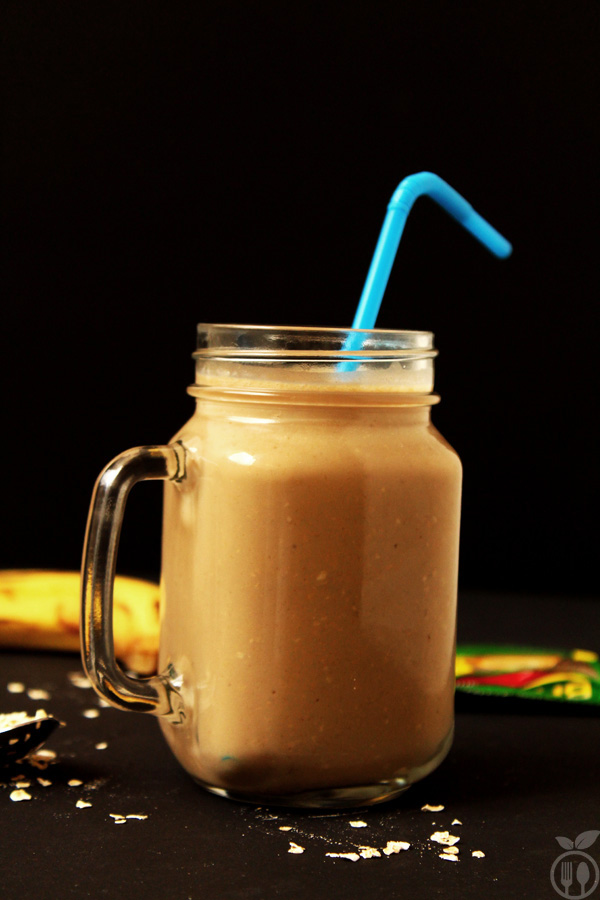 Coffee Banana Oatmeal Smoothie | Healthy Breakfast Smoothie