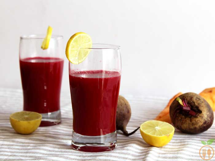 Carrot Beetroot Juice | Healthy breakfast juices