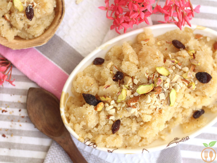 Suji Halwa Recipe With Milk | Indian Semolina pudding