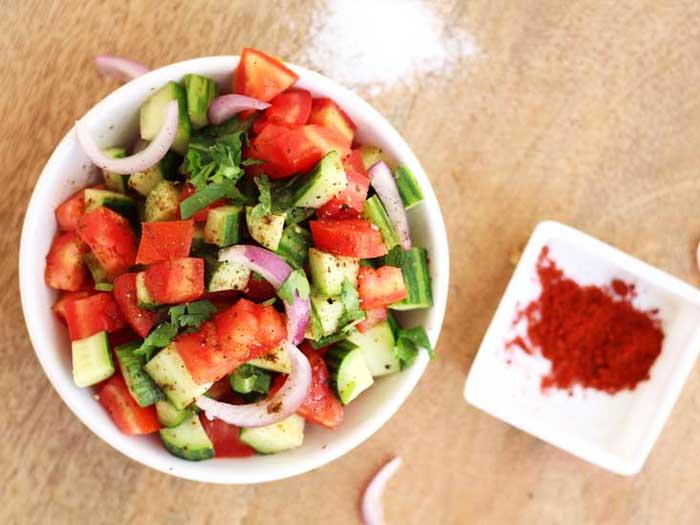 kachumber salad | Cucumber Tomato Onion Salad
