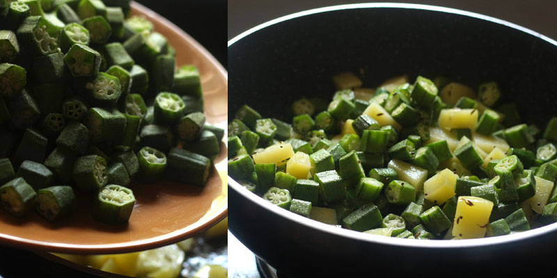 Aloo Bhindi Recipe| Indian style Potato and Okra Stir Fry