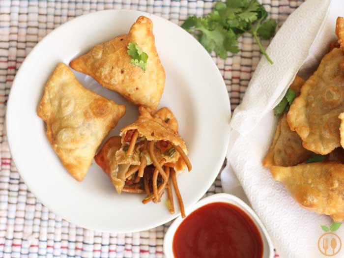Chinese Samosa Recipe | How to make Veg Chinese Samosa