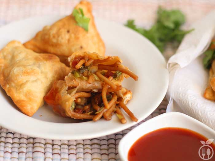 Chinese Samosa Recipe | How to make Veg Chinese Samosa
