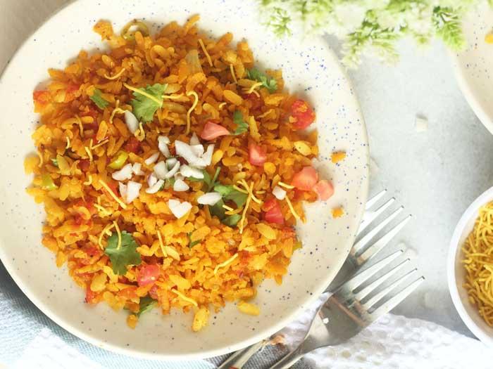 Spicy Masala Poha Recipe | How to make Flattened Rice