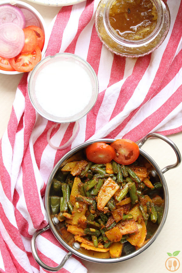 Green Beans Curry | Indian Green Beans And Potato Curry